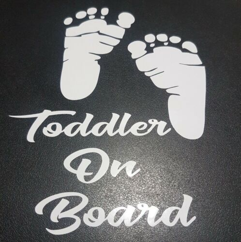 Toddler On Board Foot Print Decals 5x6.5 Stickers One Z Kids Stuff Toys Soother