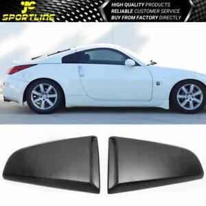 Fits 03-08 Nissan 350Z Xenon Style Rear Quarter Side Window Louvers Scoops