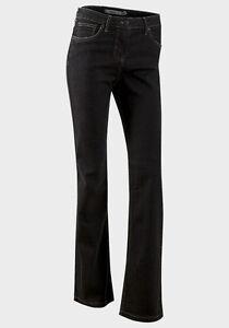 NEUF-BOOTCUT-FLARE-5-Pocket-Black-Denim-Jeans-Pantalon-Taille-10-12-14-18-20-22