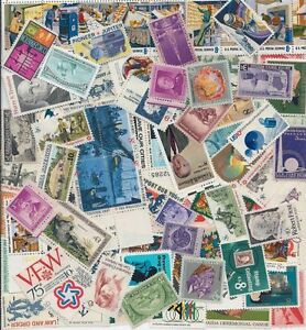 Details about 100 Different MNH Unused Vintage US Postage Stamps Lot 30s to  70s Plate Blocks