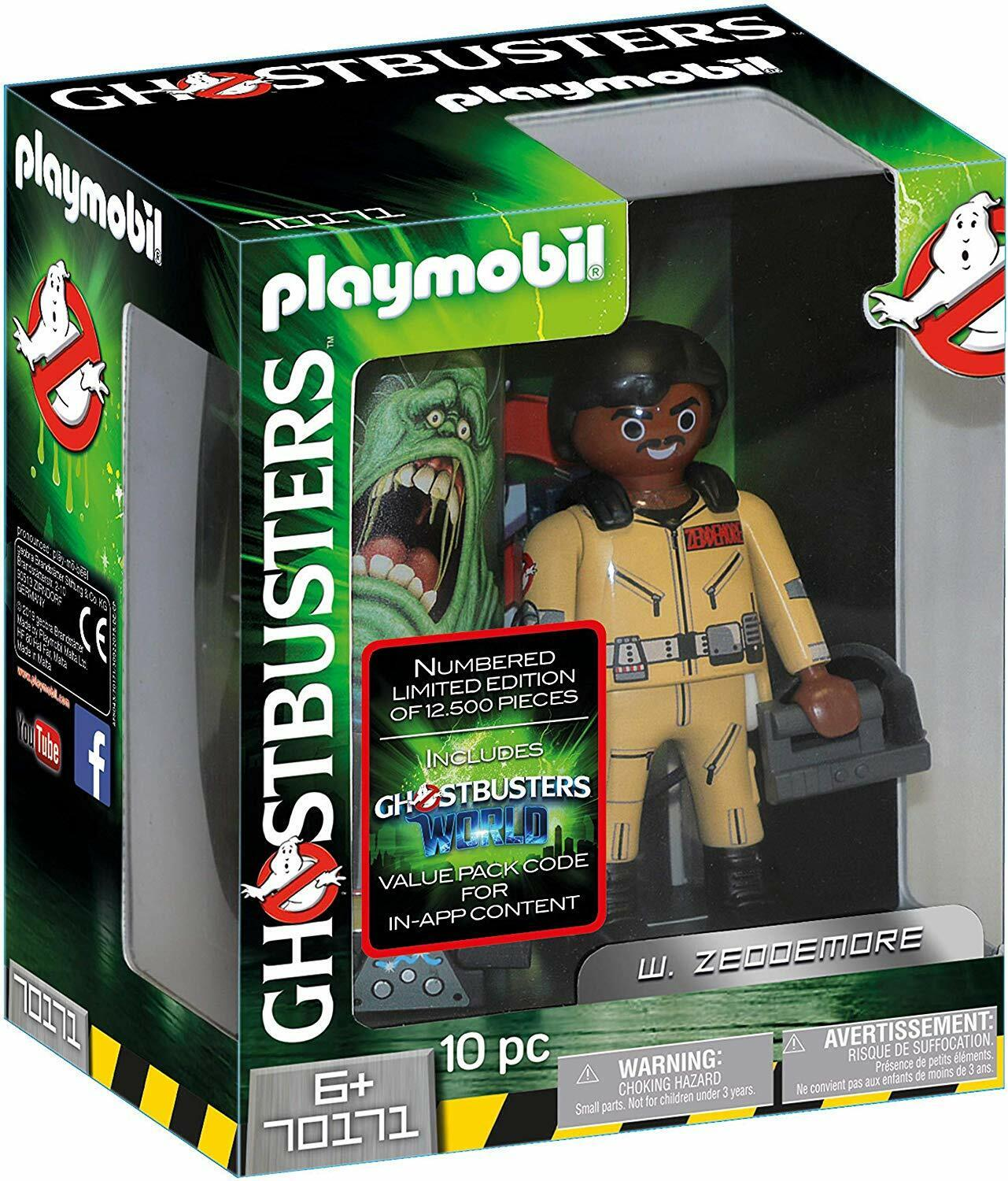 Playmobil Ghostbusters 70171. Figure Collectable W.Zeddemore. 15 cm 6 Years