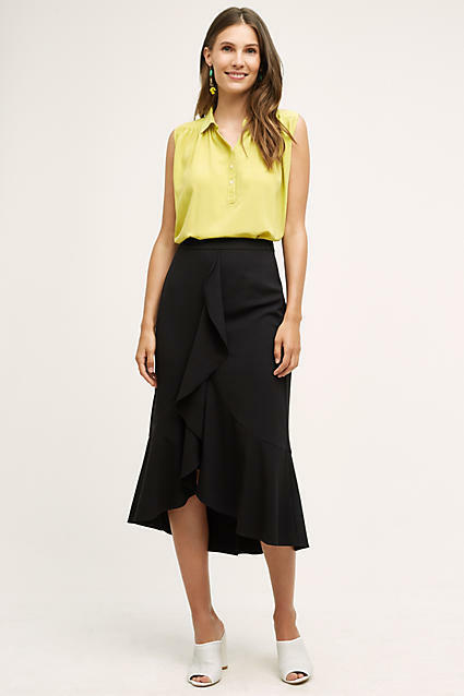 Anthropologie Marquesas Skirt by Maeve Sz 4  6