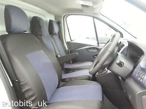 GREY-BLACK-FABRIC-SEAT-COVERS-TAILORED-FOR-RENAULT-TRAFIC-SPORT-BUSINESS-2014