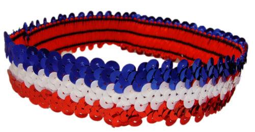 12 Sequin Headbands Flapper 20/'s Pack Glitter Stretch Sports Headband Wholesale