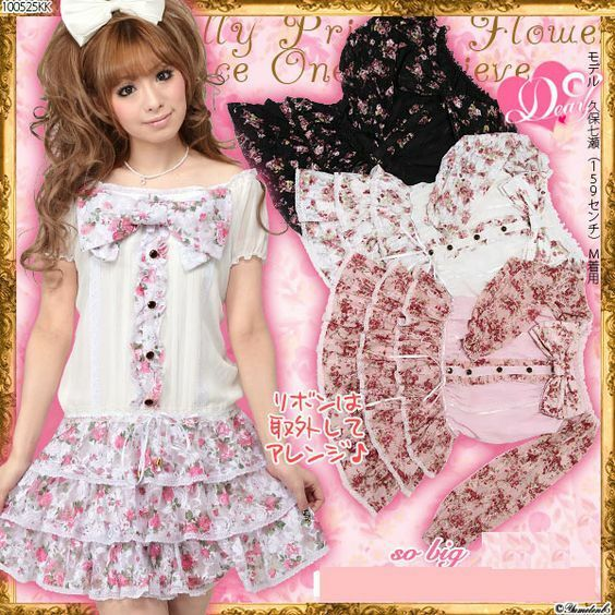 US SELLERLACE FLORAL YUMETENBO DREAMV AGEHA LIZ LISA DRESS SHIBUYA JAPAN