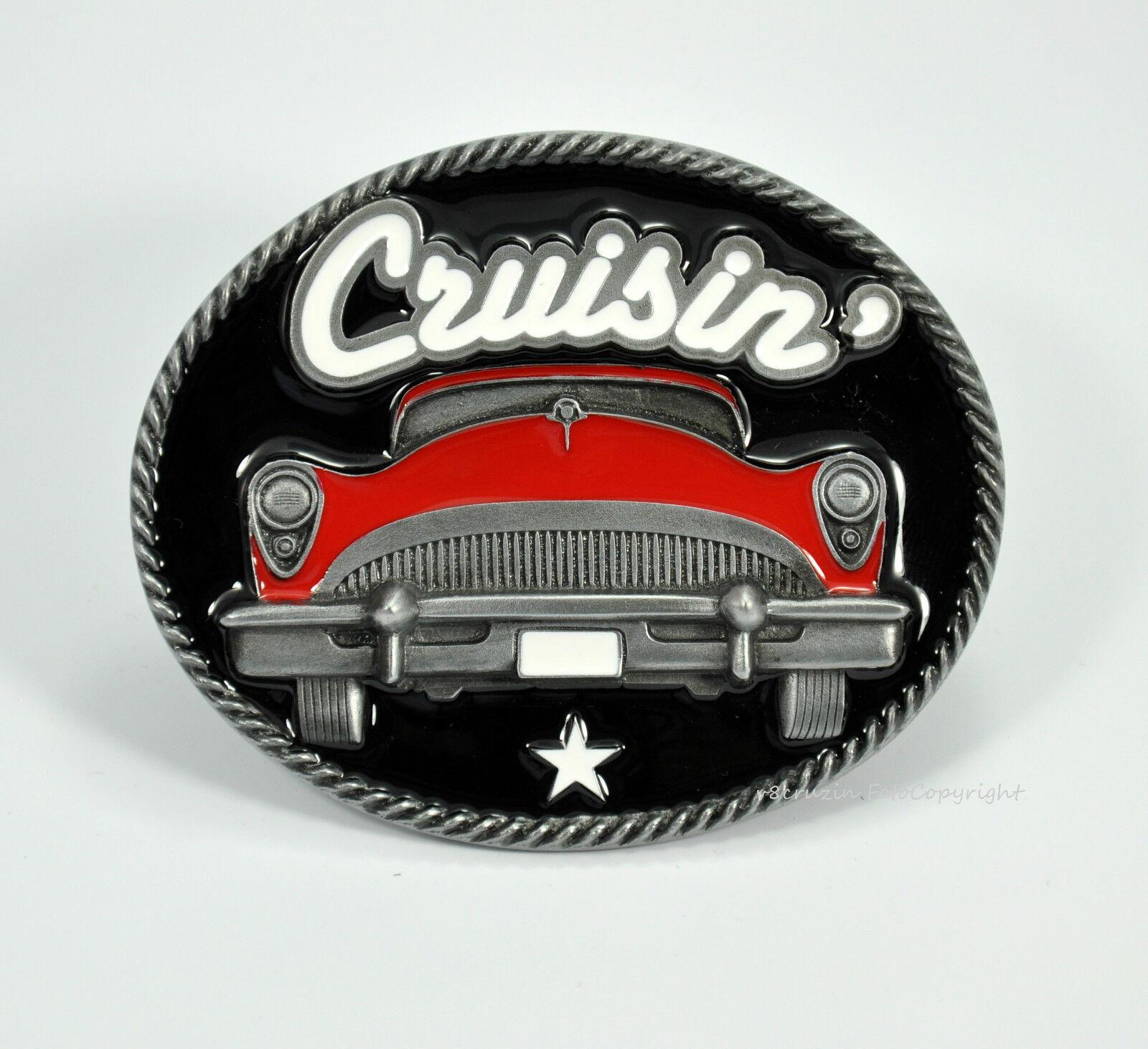 * Rockabilly Buckle Belt 50s Kustom 50er Jahre Auto Hot Rod Gürtelschnalle *566
