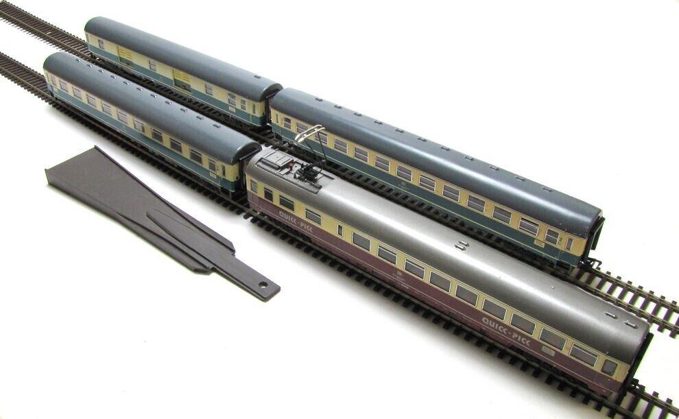 Fleischmann DB 4er-set IC-schnellzugwagen senador PE IV iluminado pista h0