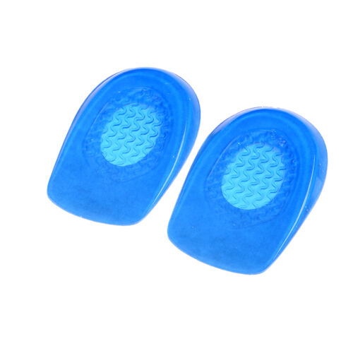 1Pair Silicon Gel Heel Cushion Insoles Soles Spur Support Shoe Pad Feet Care P0C