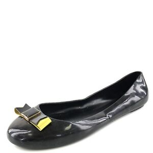 Ted-Baker-Twinkle-Toes-Black-Jelly-Bow-Slip-On-Flats-Women-039-s-Size-7-M