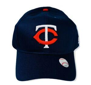 Minnesota-Twins-MLB-OC-Sports-Cap-Solid-Blue-White-Red-Logo-Adjustable-OSFM