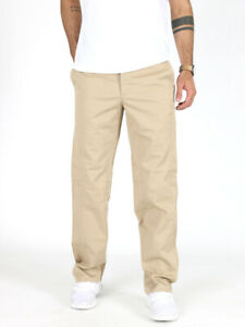 MOSCHINO-Jeans-Uomo-Regular-Fit-Chino-Pantaloni-Tessuto-Stretch-BEIGE-w28-w30