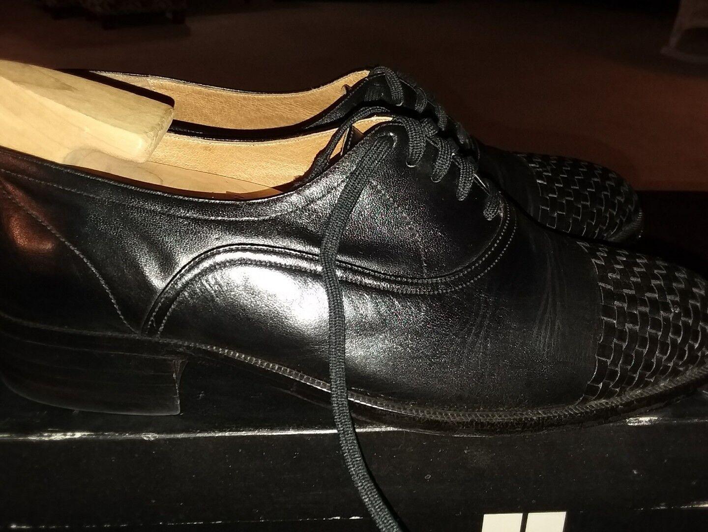 Vintage 8 Nice MENS black SHOES 8 Vintage 1/2 HIPOPPOTAMUS SIZE 8.5 woven Oxford SHOE TREE bd3d22
