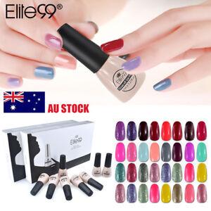 Elite99-Soak-Off-8-Colors-Gel-Nail-Polish-Varnish-Lacquer-Manicure-Kit-AU-STOCK