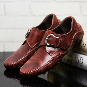 Genuine-Leather-Men-039-s-Casual-Loafers-Breathable-Driving-Shoes-Slip-On-Moccasins