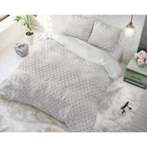 Housse De Couette Parure Gino 2 Taupe 220x200 Cm Linge De Lit Coton Mixte Ebay