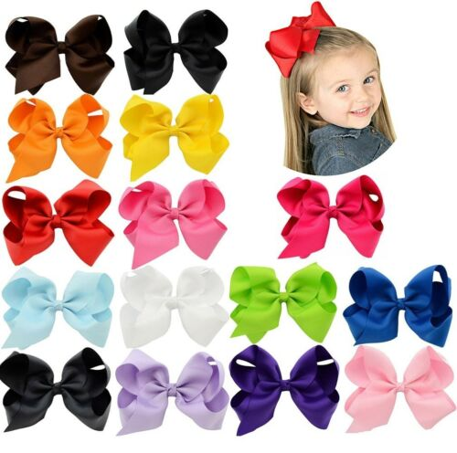 40pc LOT Baby Girls Big Ribbon Hair Bows Alligator Hair Clips-Baby Girl Gift Set