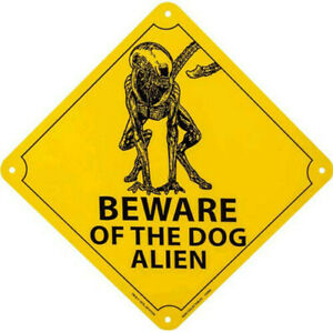 Alien-Beware-of-the-Dog-Alien-Designed-Stylized-Excellent-Quality-Tin-Sign