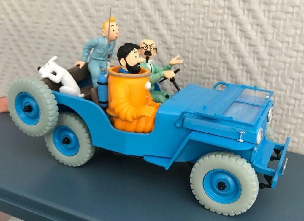 servicio de primera clase Coche TINTIN JEEP WILLYS 1 24 Luna de de de destino Nueva En Caja Colección Miniatura  muy popular