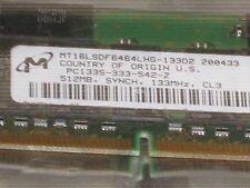 MICRON  512MB SDRAM  PC133  CL3 32X8 16CHIPS 144PIN SODIMM LOW DENSITY