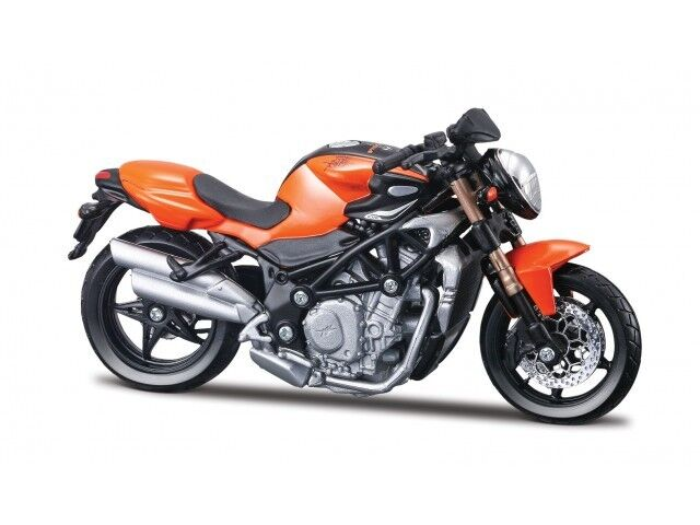 Mv Agusta Brutal S Orange Bburago 1:18 Motorcycle Model Die Cast Model