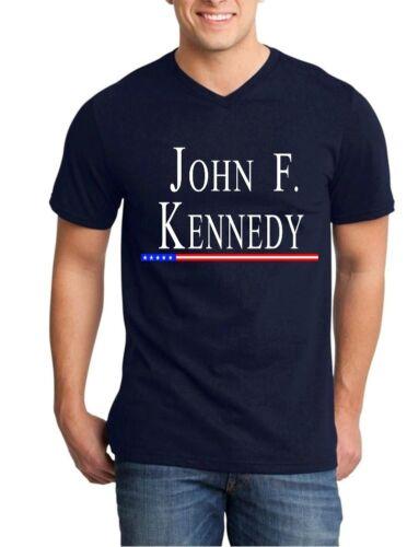 Kennedy Hommes V-cou Président USA Politique Patriotique Shirts John F