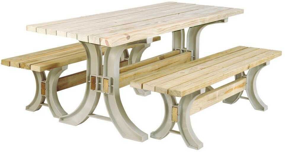 Basics Picnic Table Kit In Sand Outdoor Furniture Construction Projects 2 X 4