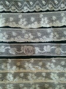 Antique-French-Lace-Lot-Trims-Small-Sewing-Doll-Clothes-Edging