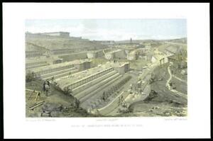 1855-Original-Antique-Print-CRIMEA-WAR-SEBASTOPOL-Docks-Fort-St-Paul-Ruin-45