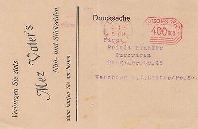 Vater & Söhne Näh-stickseiden üBereinstimmung In Farbe Mez DemüTigen Leipzig Postkarte 1923
