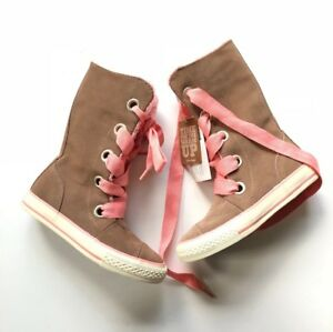 Details about CONVERSE GINGER SNAP Chuck Taylor BEVERLY Lace Up Suede Boots Size Youth 12 NIB