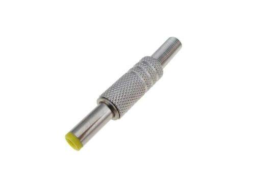 Pack of 2 5.5mm x 2.5mm 5.5//2.5 DC Power Barrel Plug Metal Free Hanging