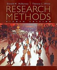 Research Methods by Donald H. McBurney and Theresa L. White (2009, Hardcover)