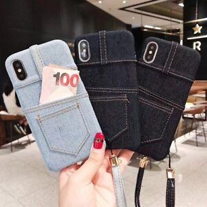Details About Classic Blue Jeans Denim Texture Pocket Case Iphone 6 7 8 Plus Xr Xs 11 Pro Max