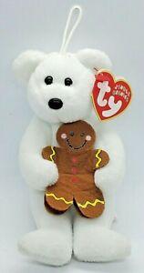 Ty Jingle Beanies Goody Gingerbread Teddy Bear Christmas Holiday Ornament Plush!