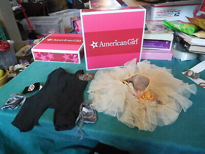 American Girl Isabelle PERFORMANCE SET retired unitard tutu tiara NO DOLL
