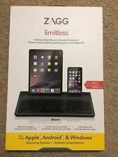 OEM ZAGG Limitless Full-Size Multi-Device Universal Bluetooth Backlit Keyboard