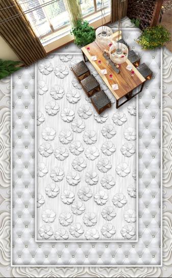 3D Weiß Flowers Art 8932 Floor WallPaper Murals Wall Print Decal 5D AU Lemon