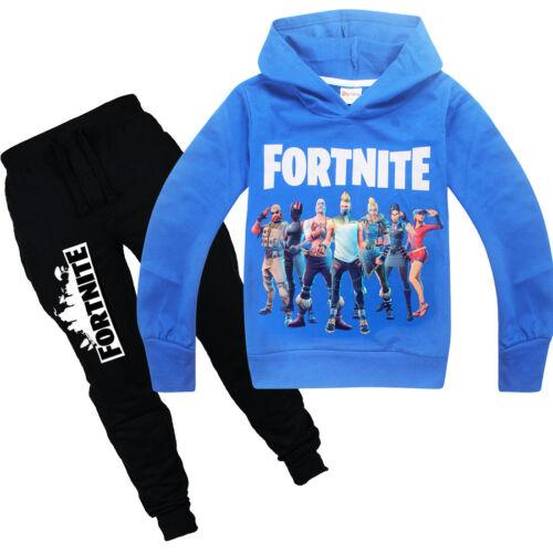 Kids Boys Game Hoodie Sweater Long Sleeve Shirt Tops+Pants Suits 6-14 Years #H