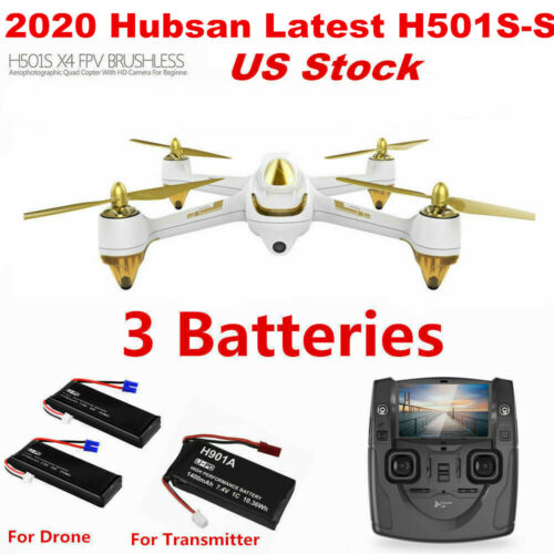 H501SS Hubsan H501S Quadcopter 5.8G FPV Brushless 1080P GPS Drone RTF 3Battery