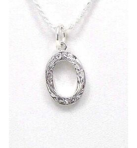 Heavy 925 Sterling Silver Hawaiian Plumeria Scroll Initial O Pendant Fashion Jewelry
