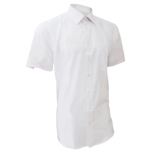 Brook Taverner Mens Savona Short Sleeve Formal Casual Shirt 15-19inch RW305