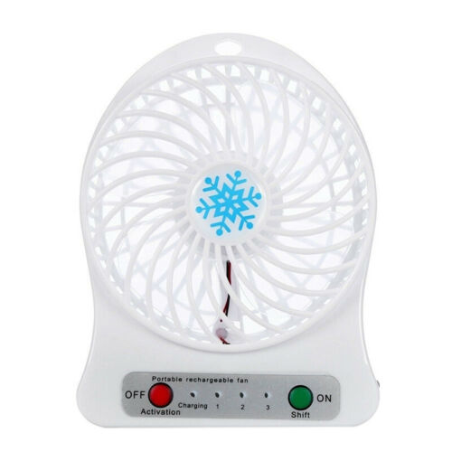 Portable Rechargeable LED Light Fan Air Cooler Mini Desk US.vi