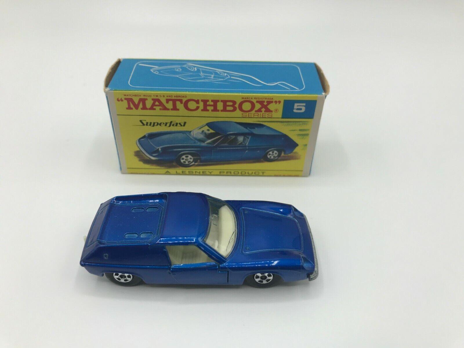 Matchbox Superfast Lotus Europa  5 In Dark Blau Metallic Mint In Original G2 Box