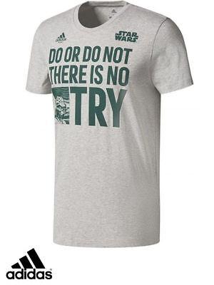 Anfibio Escultor segundo  Adidas Originals Yoda Quote Tee T-Shirt Mens-Sportswear-Gym-Top Grey New |  eBay