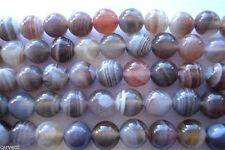"6mm Botswana Agate Round Beads ""A Grade"" TEN (10) TEN BEADS"