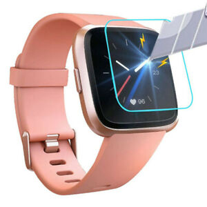 5-PACK-Tempered-Glass-Screen-Film-Protector-For-Fitbit-Versa-Lite-Smart-Watch
