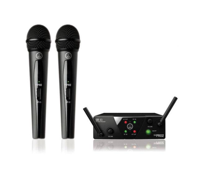AKG WMS40 Mini2 Dual Wireless Microphone System 864.735 / 864.85 MHz Plug&Play