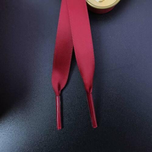 1 Pair Satin Ribbon Shoelaces Flat Shoe Laces for Sneaker Shoe Strings 1cm Width