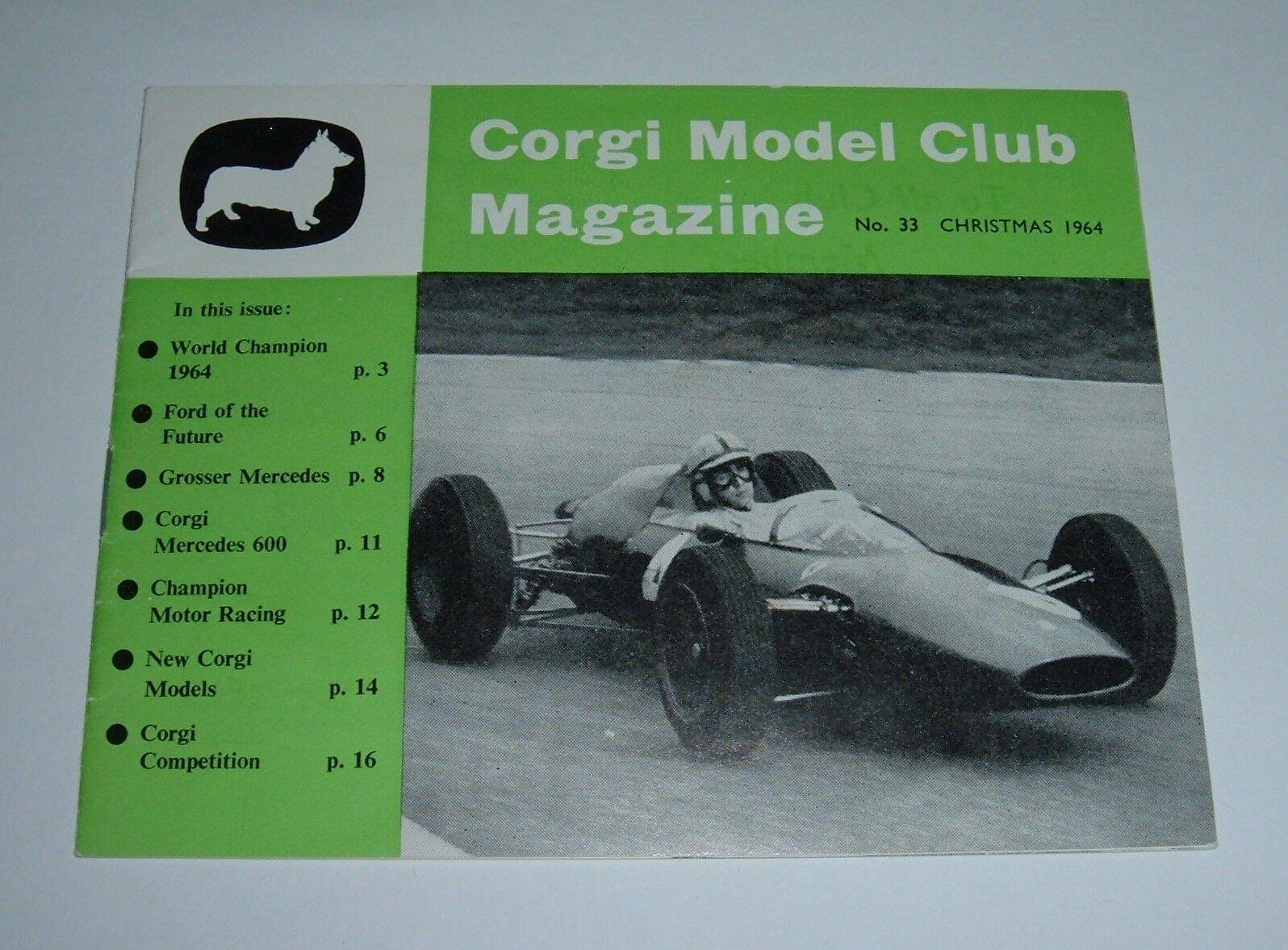 Original Corgi Club Magazine No. 33, Christmas 1964, - - - Superb. dddd84