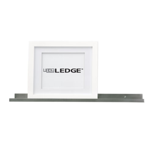 42in ultraLEDGE Stainless Steel Floating Shelf Picture Ledge Photo Art Display